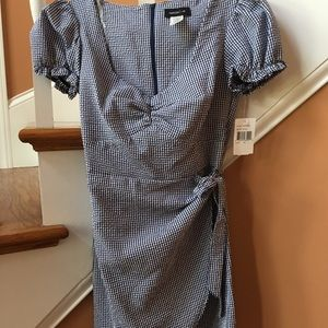 TeezeMe NWT sz 5 Navy/White gingham check dress
